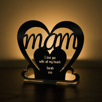 Personalised Tea Light Heart Candle Holder For MAM Birthday Mother's Day Gift