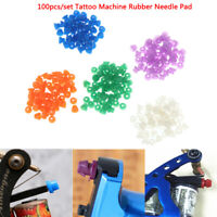 100Pcs/Set Colorful Rubber Grommets Nipples For Tattoo Machine Needles Suppli qt