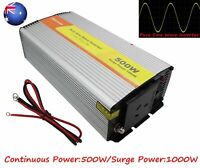 AU DIGISHUO Pure Sine Wave Power Inverter 1000W 12V DC to AC 240V With USB QC 3