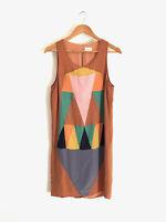GORMAN!!! Incredible 'Gorman' patchwork silk shift dress