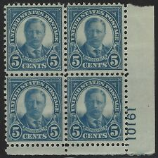 US Stamps - Scott # 637 - Plate # Block - Mint Never Hinged              (E-324)