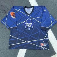90s Nike Toronto Maple Leafs Geometric NHL Street Blue Hockey Jersey VTG Size XL