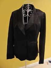 NEW Grace Hill Women Jacket Blazer Coat Black Jacquard Long Sleeve w Lining sz12