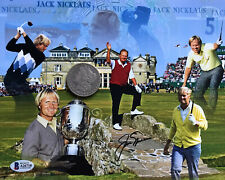 Jack Nicklaus AUTOGRAPHED 8x10 Photograph Beckett Full Letter Certified COA