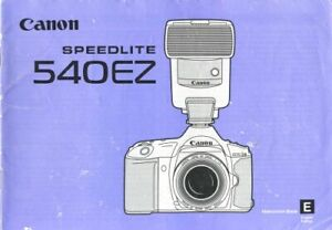 Canon 540EZ Speedlite Instruction Manual Original