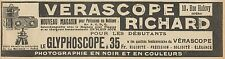 Y7352 Verascope RICHARD - Le Glyphoscope - Pubblicità d'epoca - 1915 Old advert