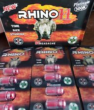 4 Packs! Rhino11 3000K Sexpill Men Hard Dick Pill Delay Ejaculation Pills Cock