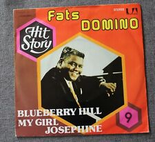 Fats Domino, blueberry hill / my girl Josephine, SP - 45 tours hit story
