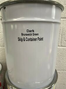 20LTR SKIP & CONTAINER PAINT ~ ENAMEL GLOSS ~ BRUNSWICK GREEN ALL COLOURS