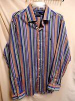 Polo Ralph Lauren Custom Fit Westerton Striped Multi Colored L/S Shirt XL