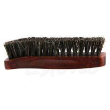 Practical Horse Hair Professional Shoe Shine Polish Buffing Brush Wooden Brown