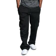 Mens Cargo Sweatpants Multi-pocket Hip Hop Straight Pants Trousers Sport Loose D