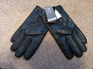 M&S Mens Genuine Leather Gloves (Black/XL) + Thinsulate, and touch technology.