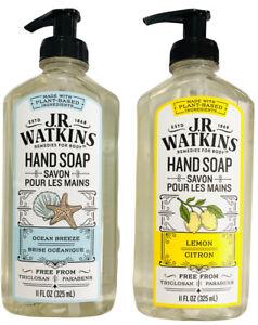 J.R. Watkins Hand Soap (2 Pack) Ocean Breeze & Lemon Paraben Free 11 fl oz Each