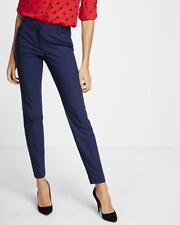 NEW EXPRESS $80 ENSIGN BLUE LOW RISE EDITOR ANKLE PANTS SZ 2S