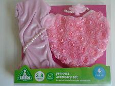 Nouveau ELC Princesse Accessoire Set Age 3-8 ans avec sac à main Gants Collier Bracelet