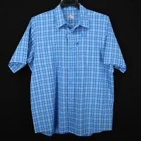 Mens Under Armour Heatgear Loose Fit Blue Fishing Button Down Shirt Size Large