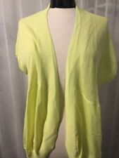 Chico's Pippa Cardigan Sweater Pale Soft Lime Women's Chicos Size 2 (12) NWT $89