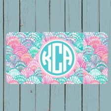 Lilly Pulitzer Inspired Monogram License Plate Car Tag Personalized Gift