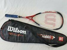 Martillo 160 Wilson Trineo Raqueta Squash Raqueta de gran tamaño con Estuche! Excelente!