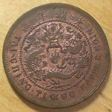 China/Yunnan Province 1906 10 Cash; Y-10v; F/VF (#c34)