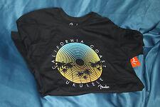 Fender California Coastal Record Ukulele T-Shirt, Black, Large, MPN 9112004506