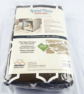 Midwest Quiet Time Defender Crate Cover CVR48-T-BR XL 48L x 30W x 33 H