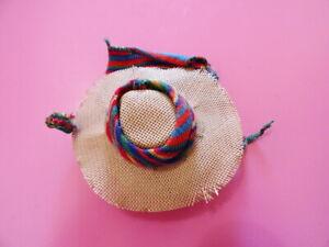 Vintage Barbie Multicolored Pak Knit Accessory Hat With Original Card MINT