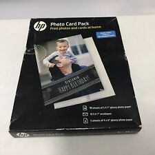NEW HP Inkjet Printer Glossy Photo Card Picture Paper Pack, 887758496787