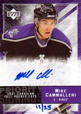 07-08 Upper Deck PRIORITY SIGNINGS xx/25 Made! Mike CAMMALLERI - Kings