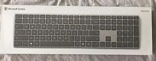 Microsoft 1742 Wireless Bluetooth Surface Keyboard Silver w/ box and manuals