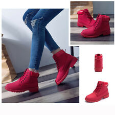 Unisex Fashion Casual PU Leather Lace Up Combat High Top Martin Short Ankle Boot