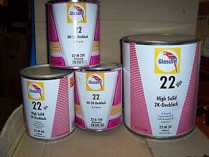 Glasurit 22 Line  22-M52  1 litre HS Solid Colour tinter   BASF mixing tinter