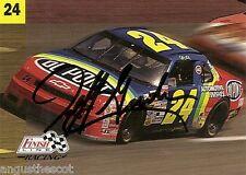 JEFF GORDON 1993 Pro Set Finish Line - card number 14 - on-card autograph