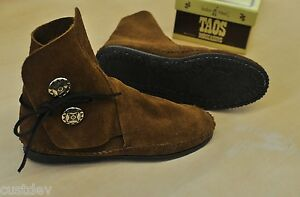 TAOS MEN'S Brown Suede LEATHER Moccasins 3000MS With Rubber Soles
