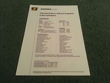 1981 1982 ZASTAVA Yugo 1300 ZLX E SPECIAL 5 DOOR - UK LEAFLET BROCHURE