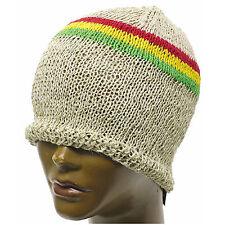 Hemp Beanie Cap Hat Organic Africa Jah Rasta Reggae Bob Jamaica Surfer S/M Fit
