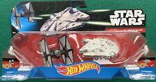 Star Wars Hot Wheels Tie Fighter V. Millennium Falcon Die Cast