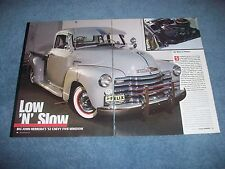 "1952 Chevy 3100 5-Window Low Rider Pickup Article ""Low 'N' Slow"""