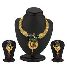Sukkhi Delightful Australian Diamond Peacock Necklace Set(2092NADM2000)