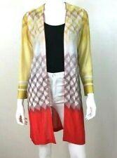 MISSONI Long Duster Open Front Long Sleeve Cardigan Knit Sweater Sz Medium 42