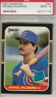 Rafael Palmeiro 1987 Donruss Rated Rookie Card # 43 Mint 9 Chicago Cubs
