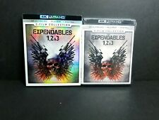 Expendables 1, 2, 3 Collection (4K UHD, Blu-ray, Digital) w/ OOP Rare Slipcover