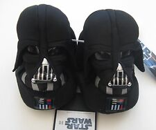NWT Star Wars Boys Lil Vader Black Slippers 9/10 Toddler Costume Darth New Movie