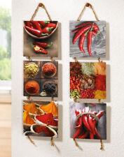 Wandhänger Spicy 2-er Set, Chili, Peperoni, Paprika, Küchendeko, Wandbild