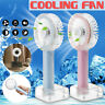 Portable USB Rechargeable Mini Handheld Air Cooling Fan w/LED Light & Mirror