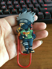 Naruto Kakashi  silica gel bookmark bookend clip Book Marks paper clip manga new