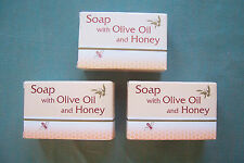OLIVE OIL SOAP WITH HONEY 3 PIECES OF 125gr EACH (3X17gr).