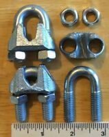 "Cable Clamps 5/16""  U-Bolts Galvanized Clamps Steel Cable Wire Clips U Bolt"