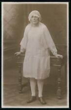 Religion Holy Communion Deco Child Girl original vintage old 1920 photo postcard